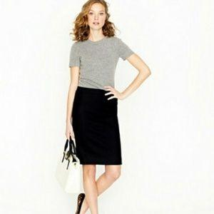 J. Crew Black No. 2 Pencil Skirt Size 4